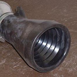 Abgastrichter für Auspuffrohre 75 - 125 mm Ø NW 75-0