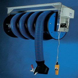 Abgasschlauchaufroller Ø 100 / 10 m mit Elektroantrieb, mit Ventilator-0