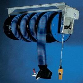 Abgasschlauchaufroller Ø 125 / 10 m mit Elektroantrieb, mit Ventilator-0