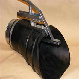 Abgastrichter mit Klemmzange für Auspuff-Ø bis 90 mm NW 75-0